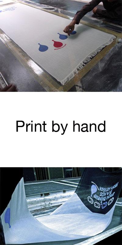Hand bedruckter Kaschmir Schal