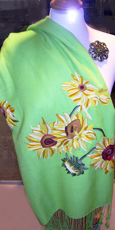 Pashmina Sonnenblumen