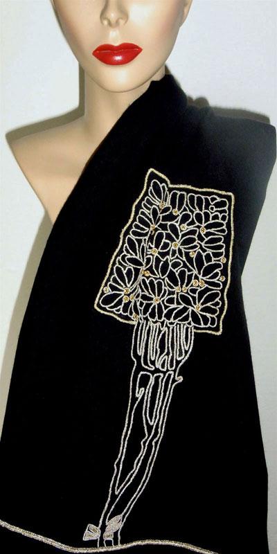 Art nouveau shawl